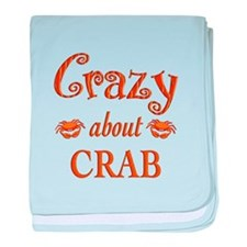 Crazy About Crab baby blanket