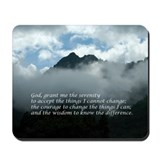 Chimney Tops - Serenity Prayer Mousepad