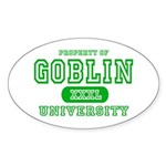 Wicked Witch University Halloween Oval Sticker