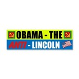 Anti-Lincoln Car Magnet 10 x 3