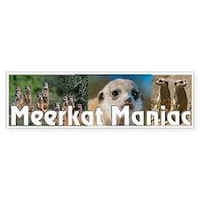 """Meerkat Maniac"" Bumper Bumper Sticker"