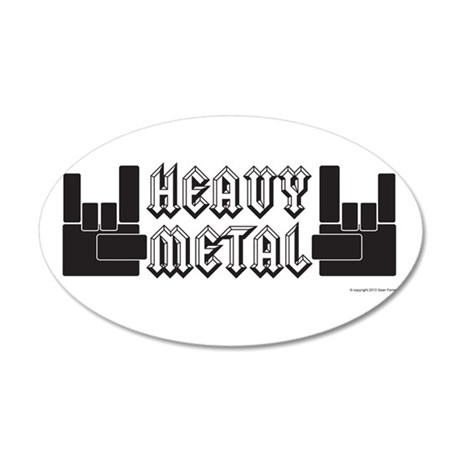 Heavy Metal 35x21 Oval Wall Decal