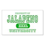 Jalapeno University Pepper Rectangle Sticker