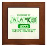 Jalapeno University Pepper Framed Tile