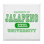 Jalapeno University Pepper Tile Coaster