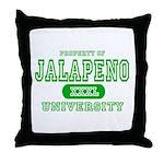 Jalapeno University Pepper Throw Pillow