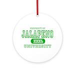Jalapeno University Pepper Ornament (Round)