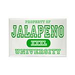 Jalapeno University Pepper Rectangle Magnet
