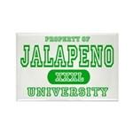 Jalapeno University Pepper Rectangle Magnet (10 pa