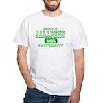 Jalapeno University Pepper White T-Shirt