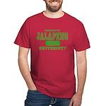 Jalapeno University Pepper Dark T-Shirt