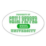 Chili Pepper University Oval Sticker