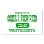 Chili Pepper University Rectangle Sticker