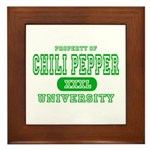 Chili Pepper University Framed Tile