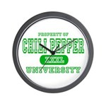Chili Pepper University Wall Clock