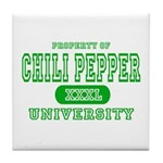 Chili Pepper University Tile Coaster