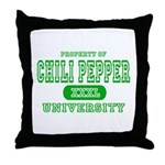 Chili Pepper University Throw Pillow