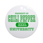 Chili Pepper University Ornament (Round)