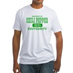 Chili Pepper University Fitted T-Shirt