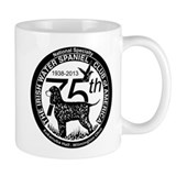 IWSCA 75th Anniversary logo in Black & White Small Mug