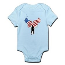 Soldiers Angel Flag Infant Bodysuit