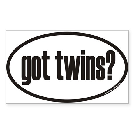 got twins? Euro Oval Sticker