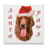 Santa Paws Irish Setter Tile Coaster