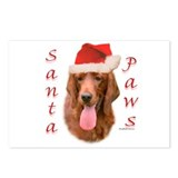 Santa Paws Irish Setter Postcards (Package of 8)