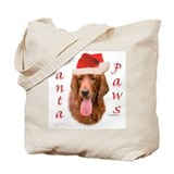 Santa Paws Irish Setter Tote Bag