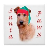 Santa Paws Irish Terrier Tile Coaster