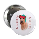 Santa Paws Irish Terrier Button