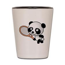 Panda Tennis Player Shot Glass