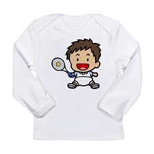 Baby Boy Tennis Player Long Sleeve Infant T-Shirt