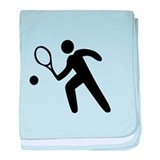 Tennis Player Icon baby blanket