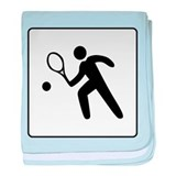 Tennis Player Icon Sign baby blanket