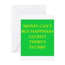 euchre Greeting Card