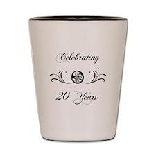 20th Anniversary (b&w) Shot Glass