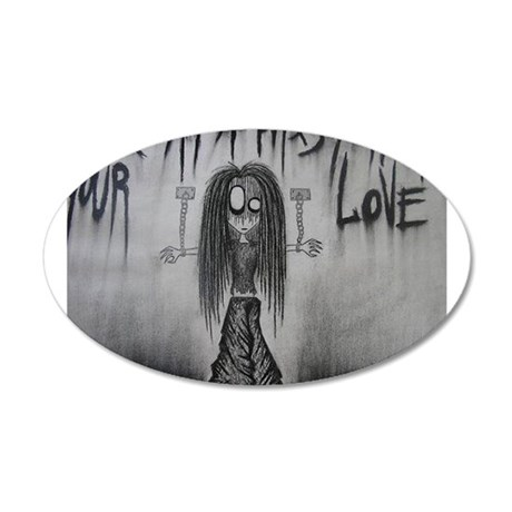 Prisoner of Your Love 35x21 Oval Wall Decal