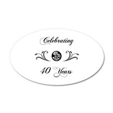 40th Anniversary (b&w) Wall Decal