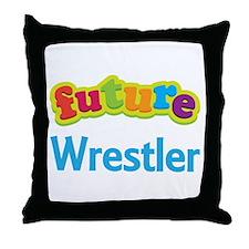 Future Wrestler Throw Pillow