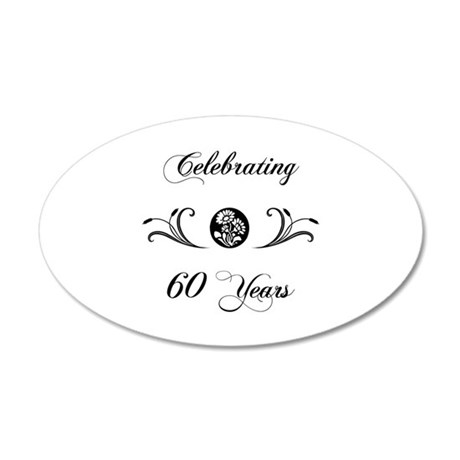 60th Anniversary (b&w) 35x21 Oval Wall Decal
