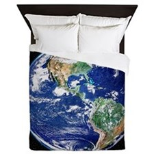 Earth from space, satellite image - Queen Duvet