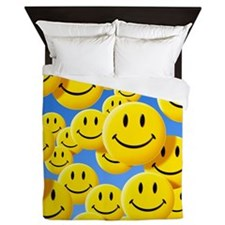 Smiley face symbols - Queen Duvet
