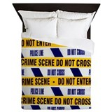 Crime scene tape - Queen Duvet
