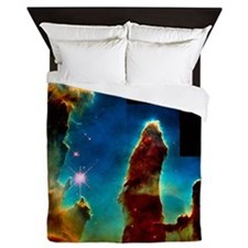 Gas pillars in Eagle Nebula - Queen Duvet