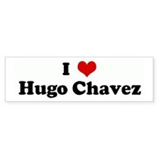 I Love Hugo Chavez Bumper Car Sticker