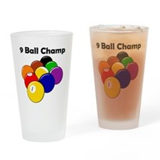 9 Ball Champ Drinking Glass
