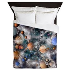 Solar system planets - Queen Duvet