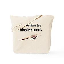 Playing Pool Tote Bag
