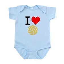 I Heart Volleyball Infant Bodysuit